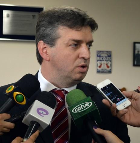 Delegado Júlio Cesar dos Reis que assumiu como secretário de Segurança Pública do Paraná, em fevereiro de 2018. Imagem: Acervo Portal Paraná - FOTO 5 -