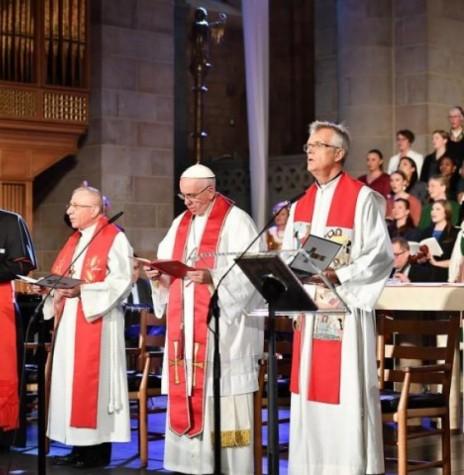 Celebração ecumênica conjunta entre luteranos e católicos realizada na catedral de Lund, na Suécia.  Imagem: Acervo Portal Luteranos - FOTO 8 -