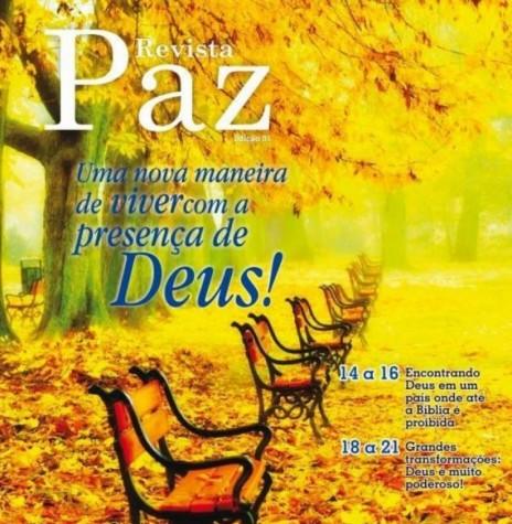 Capa  da Revista Paz nº 01, que circulou em julho de 2013.  Imagem: Acervo da Revista - FOTO 7 -
