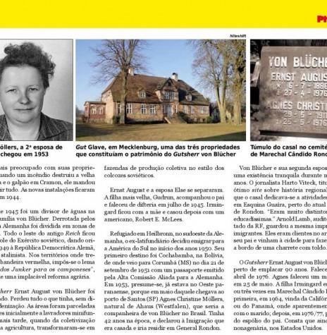 Segunda parte da reportagem sobre o imigrante alemão von Blücher. Imagem: Acervo da Revista - FOTO 8 -