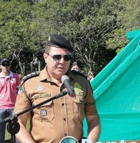 Tenente-coronel  Cesar Leroy Cooper que assmuniu o comando do Batalhão de Polícia de Fronteira, em abril de 2016. Imagem: Acervo Ponto de Notícia - FOTO 3 -