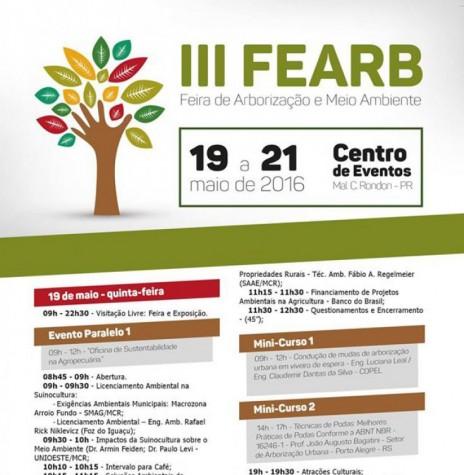 Estampa da agenda programática de eventos do III FEARB - capa.  Imagem: Acervo Memória Rondonense