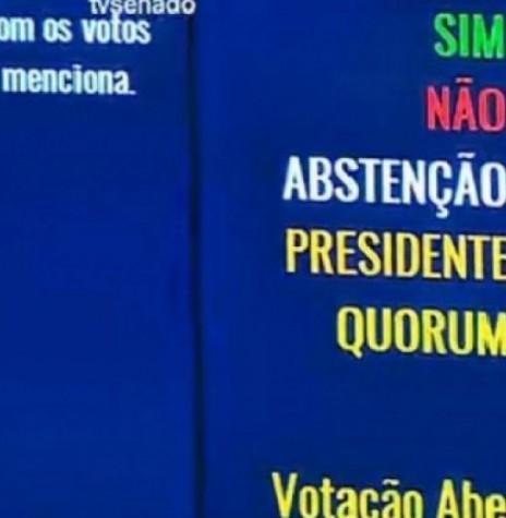 Placar da votação do impeachment da Presidente Dilma Rousseff. Imagem: agênciabrasil - FOTO 6 –