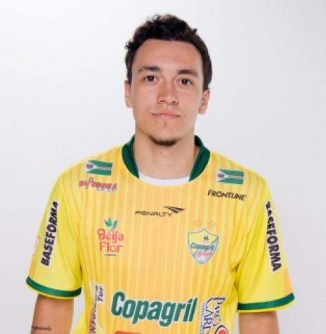 Jogador Biel que fez o seu 600º gol contra o Assoeva, em 05 de abril de 2019, desde que estreou na Copagril Futsal.  Imagem: Acervo Copagril Futsal - FOTO  15 -