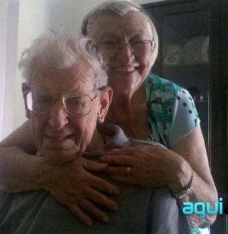 Casal Alberto  e Orminda Arendt Rusch,  ele falecido em maio de 2013 aos 92 anos.  Imagem: Acervo AquiAgora.net - FOTO 2 -