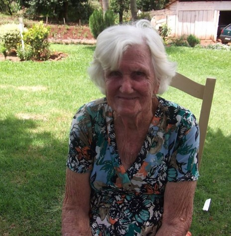 Pioneira Serenita Amélia Adams,  no distrito rondonense de Novo Três Passos, falecida em agosto de 2015.  Imagem: Acervo Izoldi Witeck Adams - FOTO 4 -