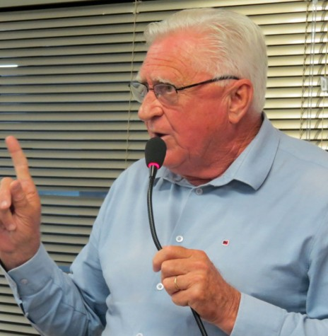 Vereador rondonense Pedro Rauber que em 1986 posicionou a bancada do PMDB a votar contra o requerimento para a construção da Casa da Cultura.  Imagem: Acervo O Presente - FOTO 6 -