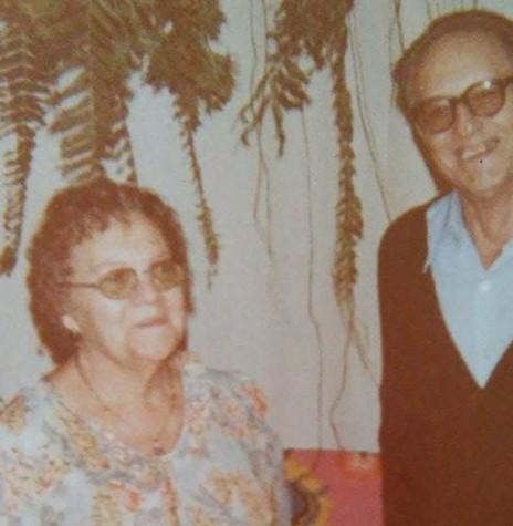 Pioneira Alzira (nascida Diemer) Saatkamp com o esposo João, falecida em 25 de maio de 1983.  Imagem: Acervo Romeu e Venilda Saatkamp - FOTO 7 -