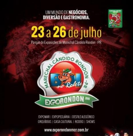 Cartaz de divulgação da ExpoRondon 2015.  Imagem: Acervo Imprensa - PM-MCR - FOTO 2 -