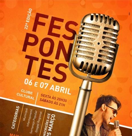 Cartaz do 22º Fespontes.  Imagem: Acervo Memória Rondonense - FOTO 8 -