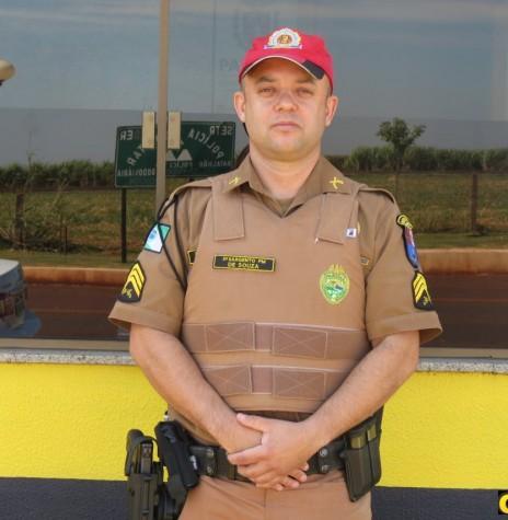 3º sargento Márcio José de Souza que assumiu o comando do Posto da Polícia Rodoviária Estadual, de Marechal Cândido Rondon, em abril de 2018. Imagem: Acervo O Presente - FOTO 14 -