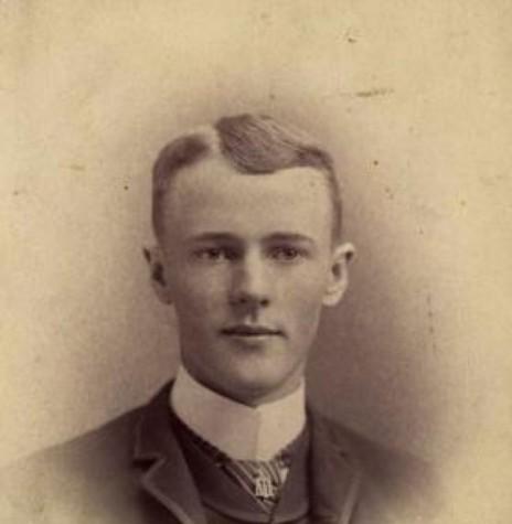 Paul Percy Harris, um dos idealizadores do Rotary,  na época em que era estudante da Universidade de Vermont, EUA. Imagem: Acervo Rotary International - FOTO  2 -