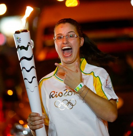 Ariel Linhares de Oliveira, a terceira rondonense a conduzir a tocha olímpica da Olimpíadas Rio de Janeiro 2016.  Imagem: Acervo pessoa