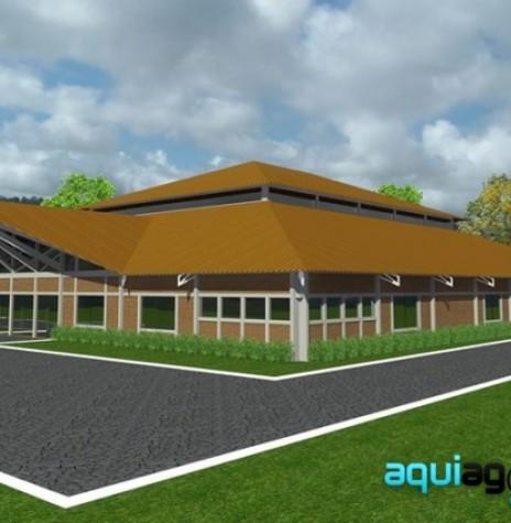 Perspectiva da nova sede social do CTG Tertúlia do Paraná.  Imagem: Acervo AquiAgora.net - FOTO 3 -