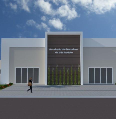 Perspectiva da nova sede da Associação dos Moradores da Vila Gaúcha.  O projeto é do arquiteto Ricardo Leite de Oliveira Imagem: Imprensa PM-MCR Crédito: Ademir Herrmann - FOTO 16 -