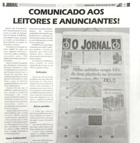 Editorial comunicativo da direção do