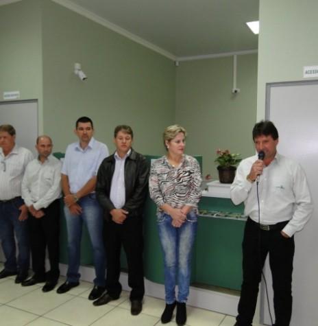 Momento da solenidade de inauguração da nova agência da Cresol, na sede municipal de Mercedes. Imagem: Acervo AquiAgora.net - FOTO 2 -