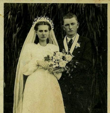 Jovens Francisca Regina Spies e Adolfo Rukhaber que mais tarde foram pioneiros no atual município de Quatro Pontes.  Imagem: Acervo Senilda Kerkhofen -  FOTO 1 -