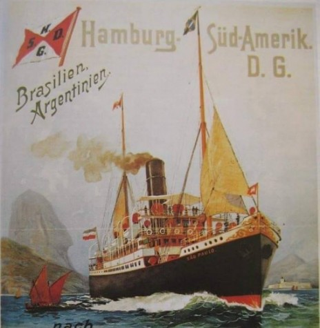 Cartaz de propaganda estimulando os alemães a emigrarem para Santa Ctarina.  Imagem: Acervo Memória Rondonens - FOTO 2 -