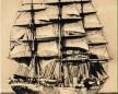 Transatlântico de três mastros muito comum para a travessia do Atlântico no período imigratório para o continense americano. A imagem é meramente ilustrativa e não corresponde a embarcação em que viajou o imigrante Antoni Pospisill. Imagem: Acervo Ernesto Rosar -Santo Amaro da Imperatriz (SC).