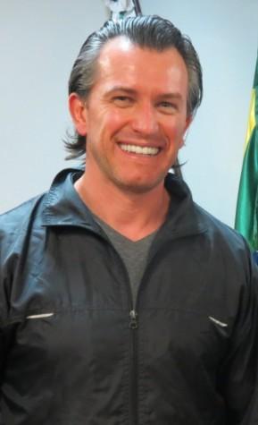 Ciclista olímpico rondonense Valdir Lermen entrevistado por Anderson Picolo, em