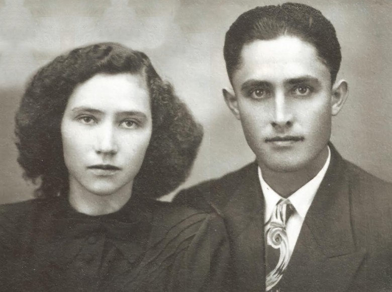 Casal Paulina (Kalkmann) e Alfredo Nied, proprietário da primeira casa comercial na cidade de Marechal Cândido Rondon.  Imagem: Acervo Walmor Nied