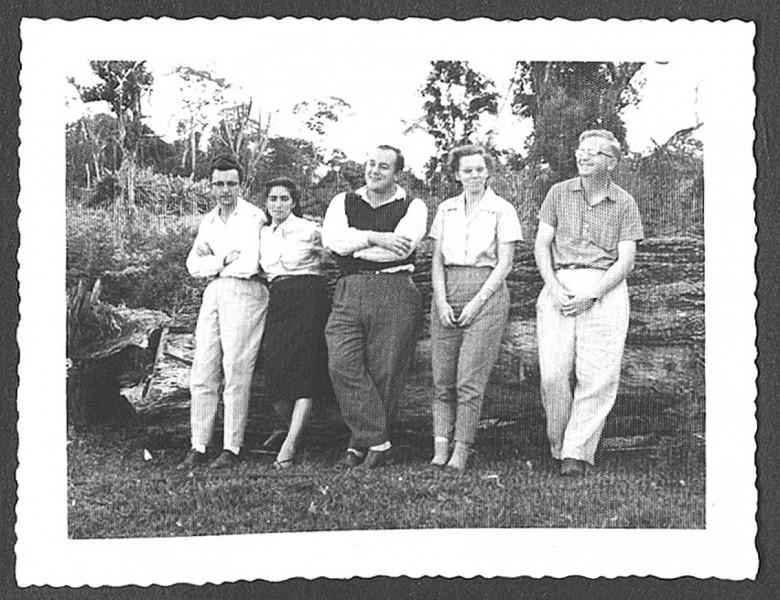 Ondy Niderauer e esposa, Dr. Seyboth, e Sperafico e esposa, em 1960.