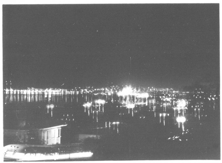 Porto Alegre à noite, em  1958.
