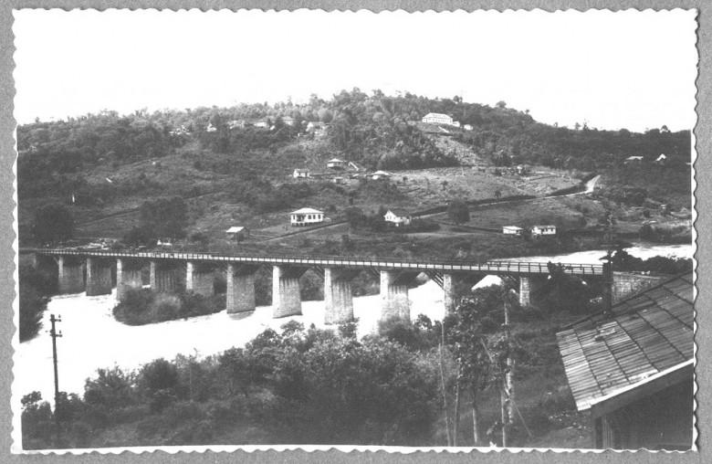 Ipira, vista d cidade vizinha  Piratuba, SC., em 1951.
