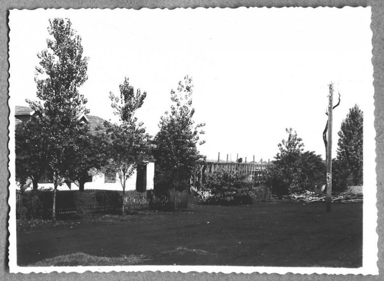 Estrutura pronta, vista frontal, 2 º etapa. 1960