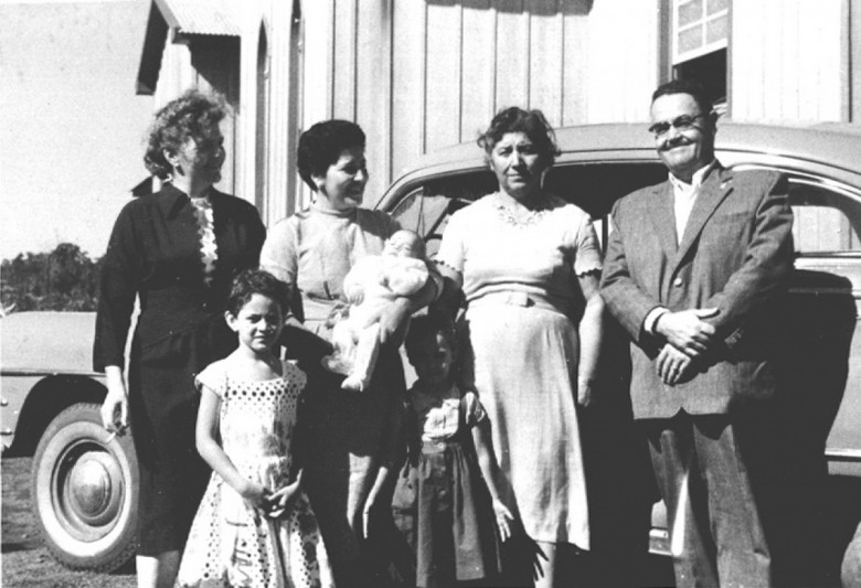 D. Ingrun, Maximilia,  Laureana Mohr, e Ary Branco da Rosa,em 1960.