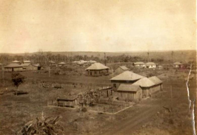 A então vila de General Rondon em meados da década de 1950.