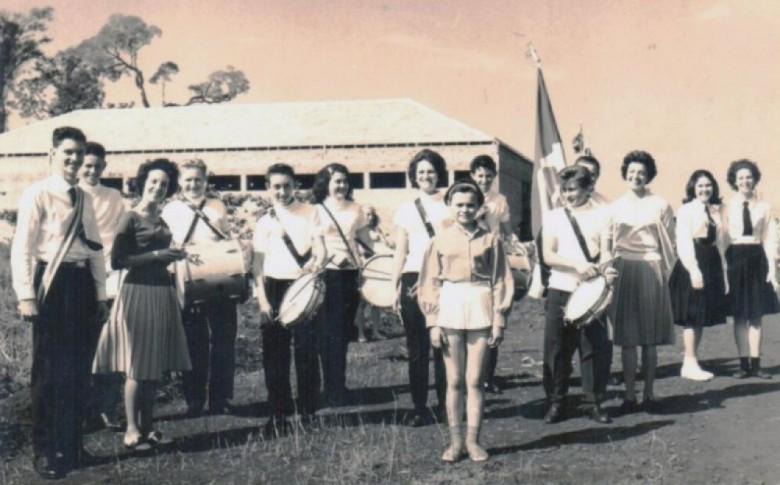 Fanfarra da antiga Escola Normal Ginasial de Marechal Cândido Rondon. Hoje, Colégio estadual Eron Domigues.