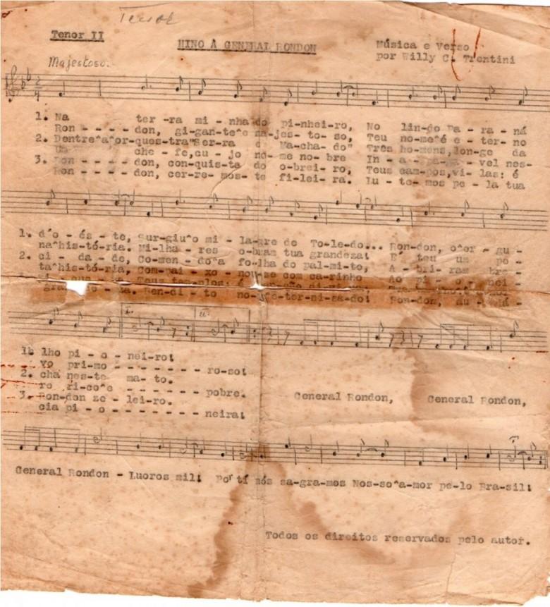 Partitura para tenor II.