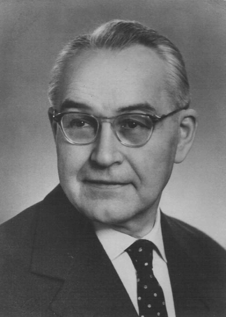 Dietrich Klagges, em 1949. Ele pai de Ingrun Klagges, esposa do médico Friedrich Rupprecht Seyboth.