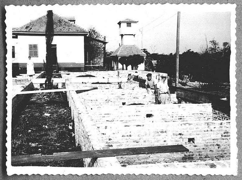 2° Etapa da construção do Hospital Filadélfia, a fundação. 1960.