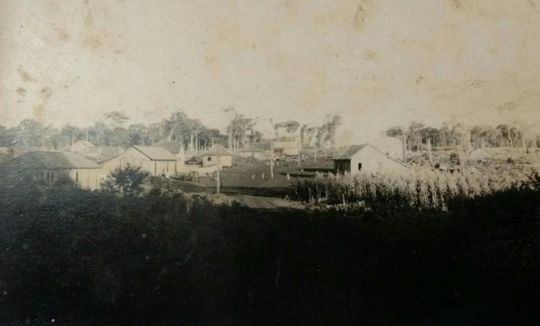 Vista panorâmica da então vila de General Rondon, em 1950.