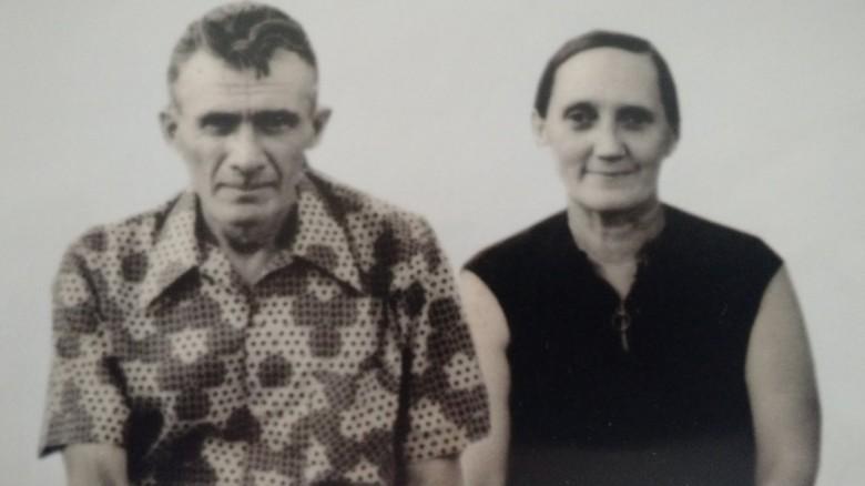 Casal pioneiro João Arlindo Griebeler e sua esposa Ida Teolinda Maria Rigolin.