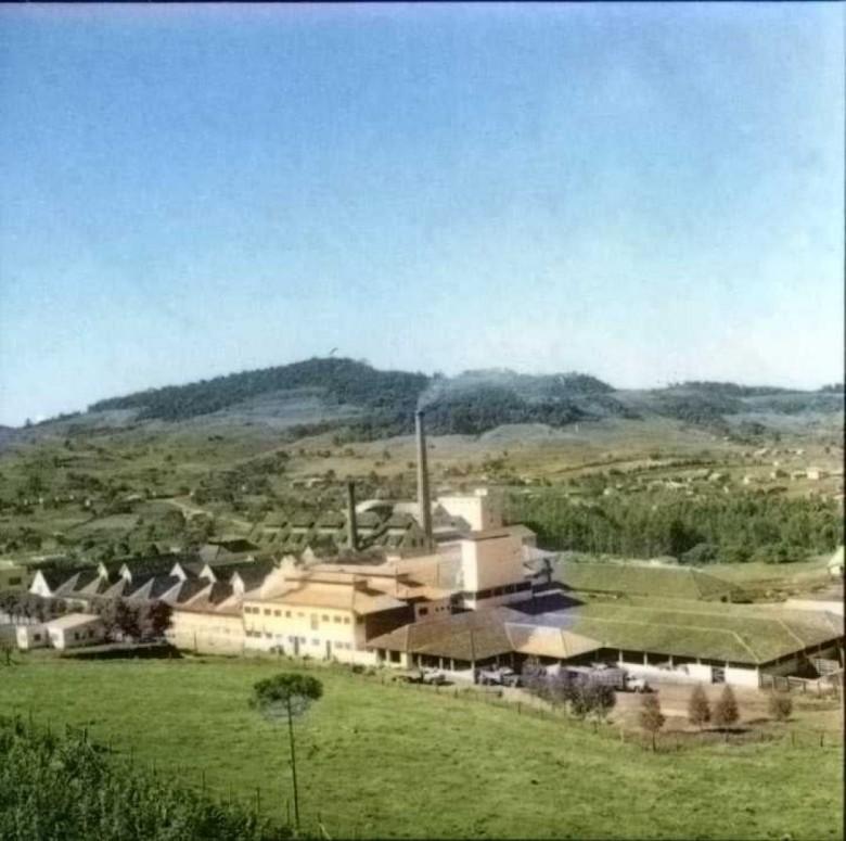 Unidade pioneira da Sadia, na cidade de Concórdia (SC), no final de década de 1950.