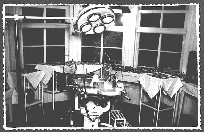 Estrutura e instrumental do Hospital e Maternidade Filadélfia Filadélfia, em 1960.