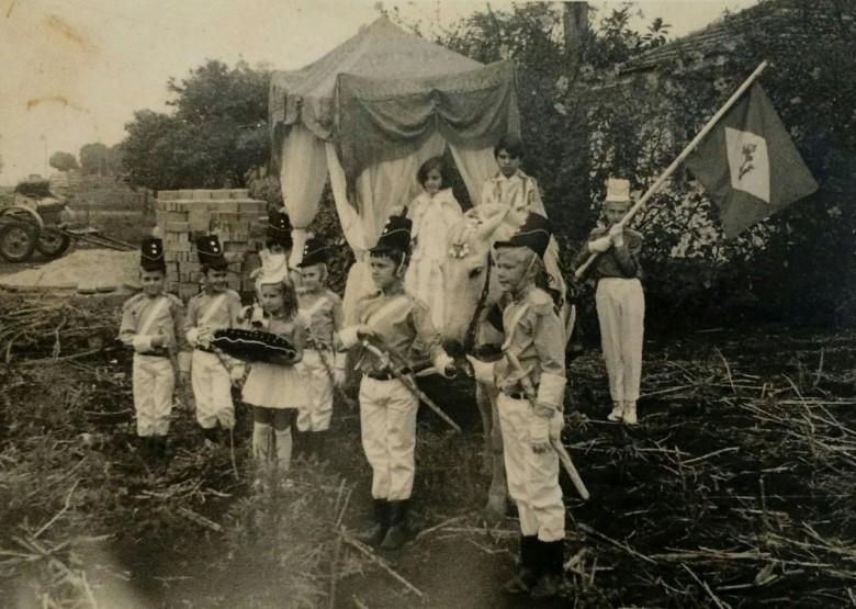 Desfile de Sete de Setembro, em Marechal Cândido Rondon, na década de 1960.