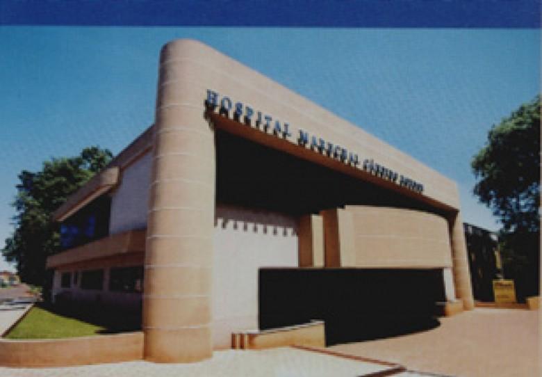 Hospital Rondon, fachanda frontal, Rua Cabral, esquina com Rio de Janeiro. 1999.