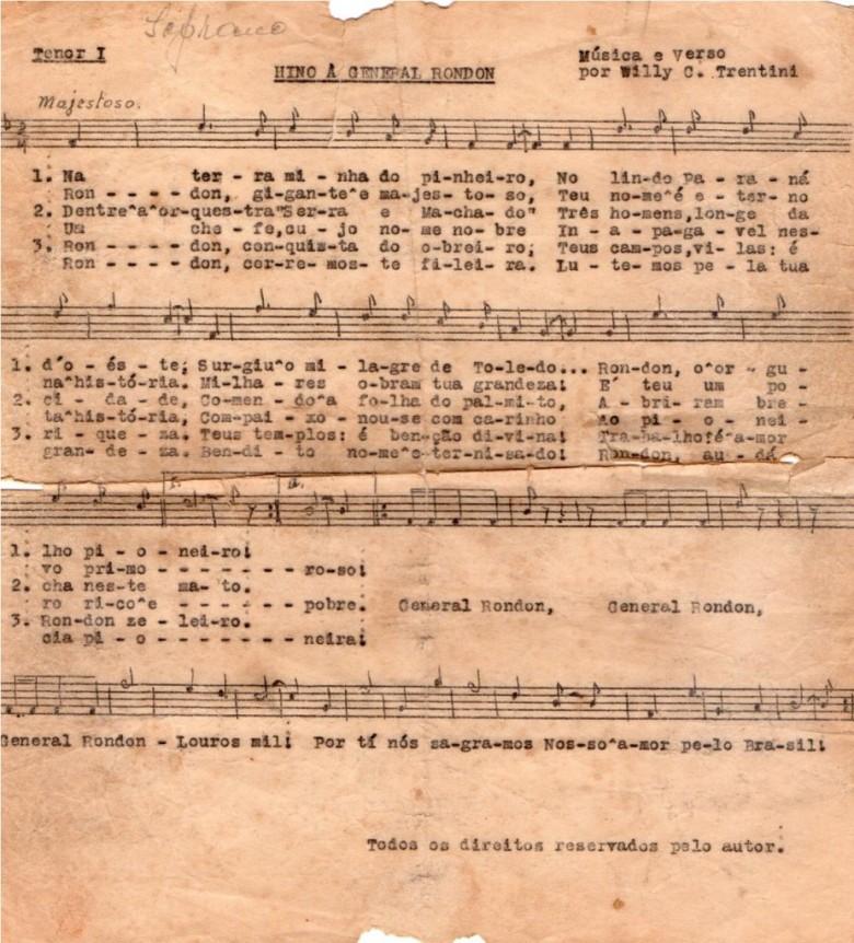 Partitura para tenor I, com anotação para soprano.