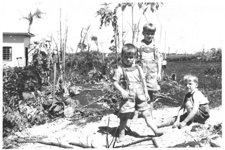 Matias, Dr. Hippi (Dietrich Rupprecht Seyboth)  e Dieter, em 1954.