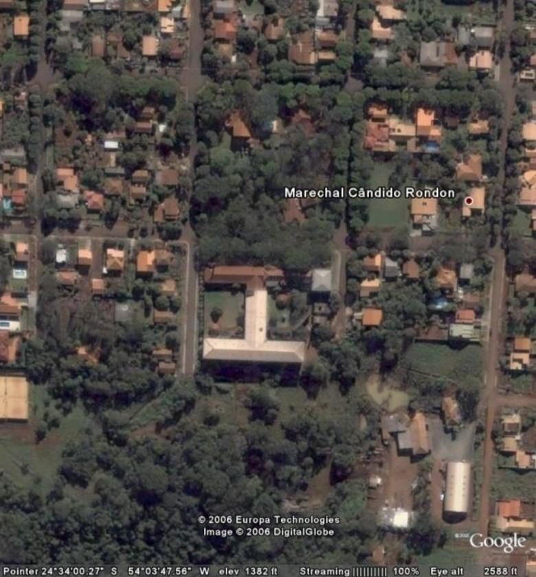 Vista aérea Hospital Filadelfia, Google Earth. 2006.