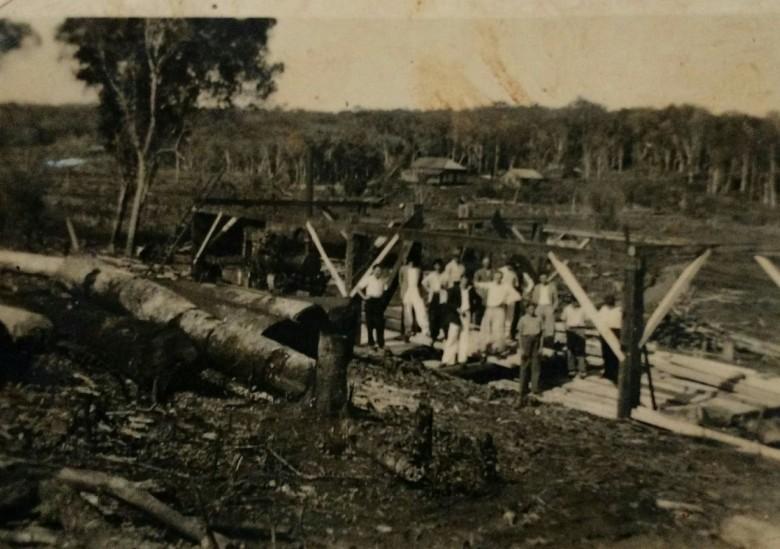 Outra vista do início da então vila de General Rondon, em 1950.