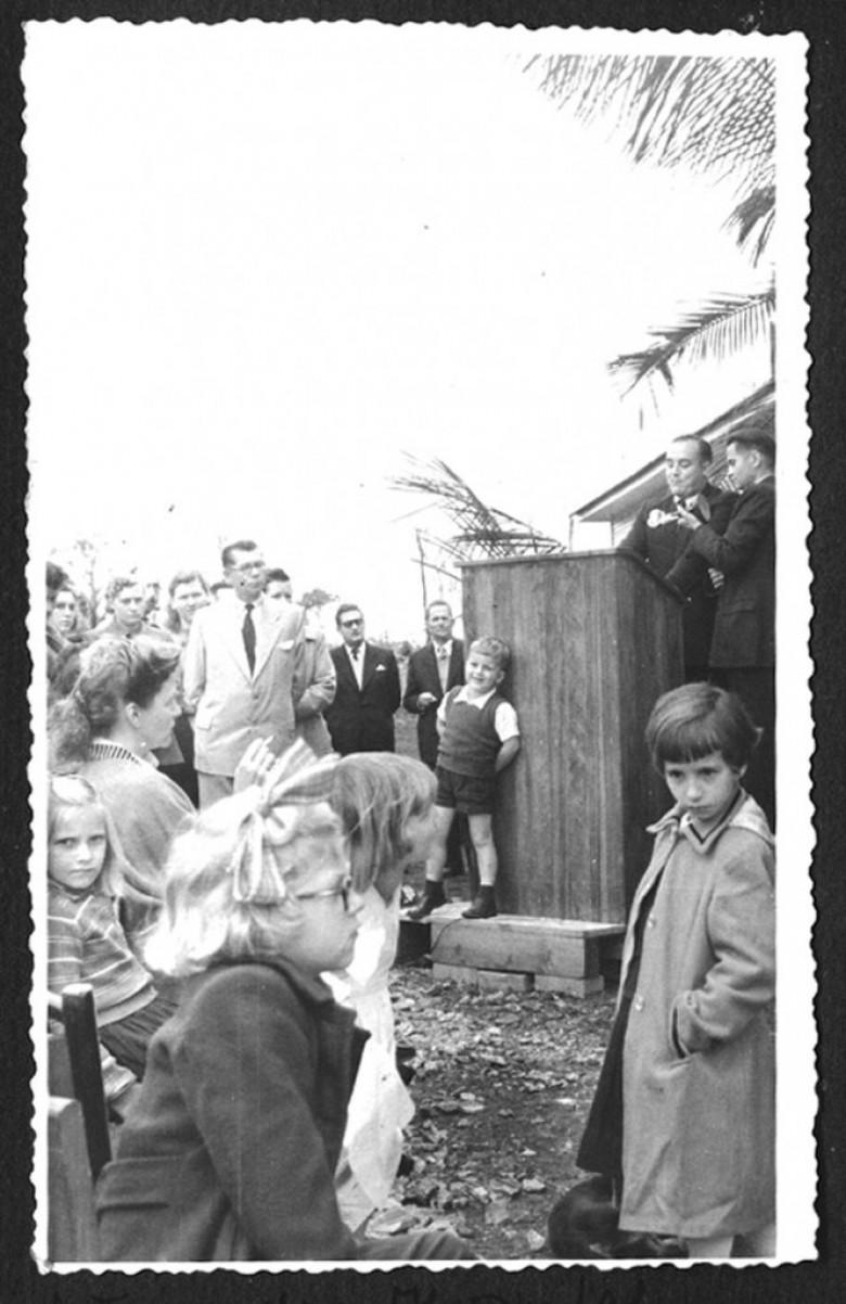 Inauguração do Hospital e Maternidade Filadélfia,  em 1954.