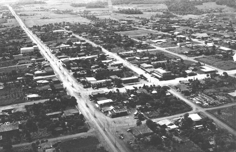 Vista aérea Av. Rio Grande do Sul,  em 1967.