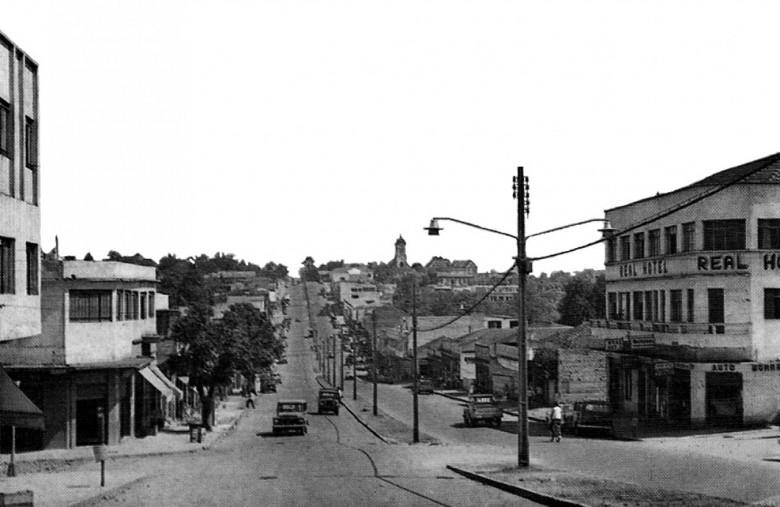 Cidade de Foz do Iguaçu, em 1960.