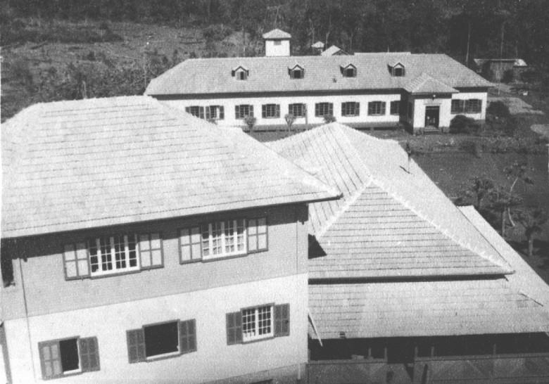 Hospital Filadélfia visto da caixa d' água da residência do Dr. Seyboth, em  1959.